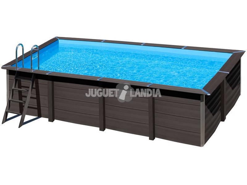 piscina rectangular madera composite 606x326x124 cm gre