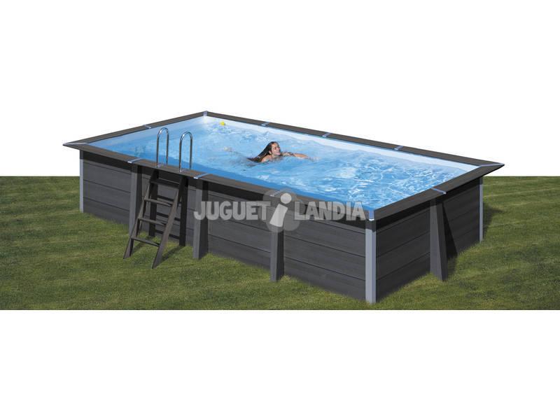Acheter piscine en bois composite rectangulaire 606 x 326 for Piscine composite rectangulaire