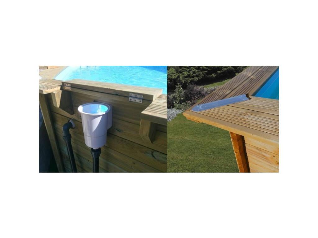 Acheter piscine en bois rectangulaire mint 1000 x 400 x for Acheter piscine bois