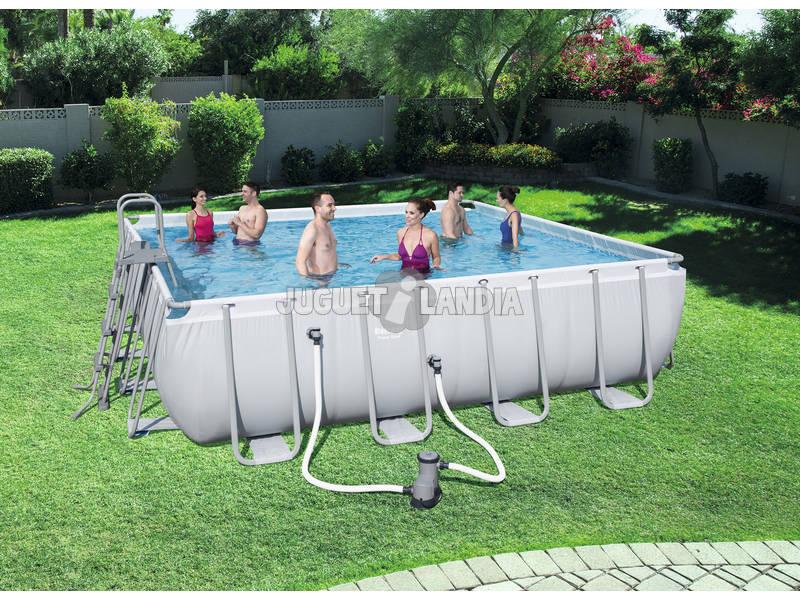 Piscina fuori terra 488x488x122 cm bestway 56626 for Comprare piscina fuori terra