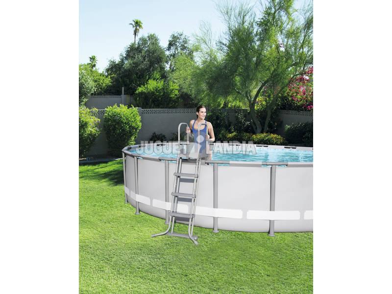 acheter piscine hors sol 488 x 488 x 122 cm bestway 56626 juguetilandia. Black Bedroom Furniture Sets. Home Design Ideas