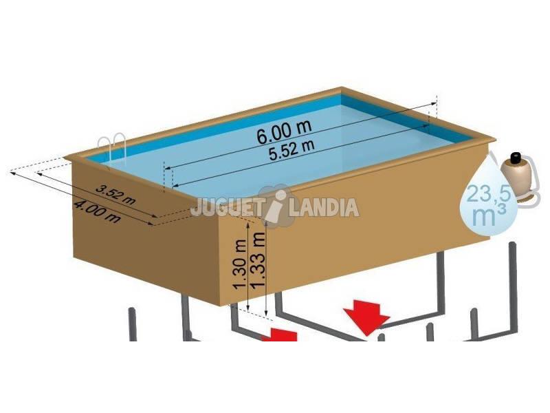 Acheter piscine en bois rectangulaire evora 600 x 400 x for Acheter piscine en bois