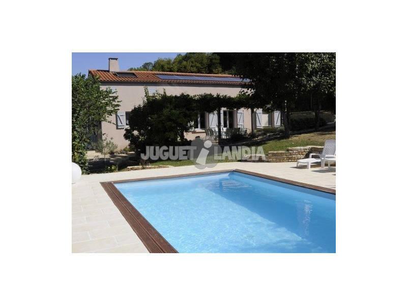 Piscina rectangular madera marbella 400x250x119 cm gre - Piscina madera rectangular ...