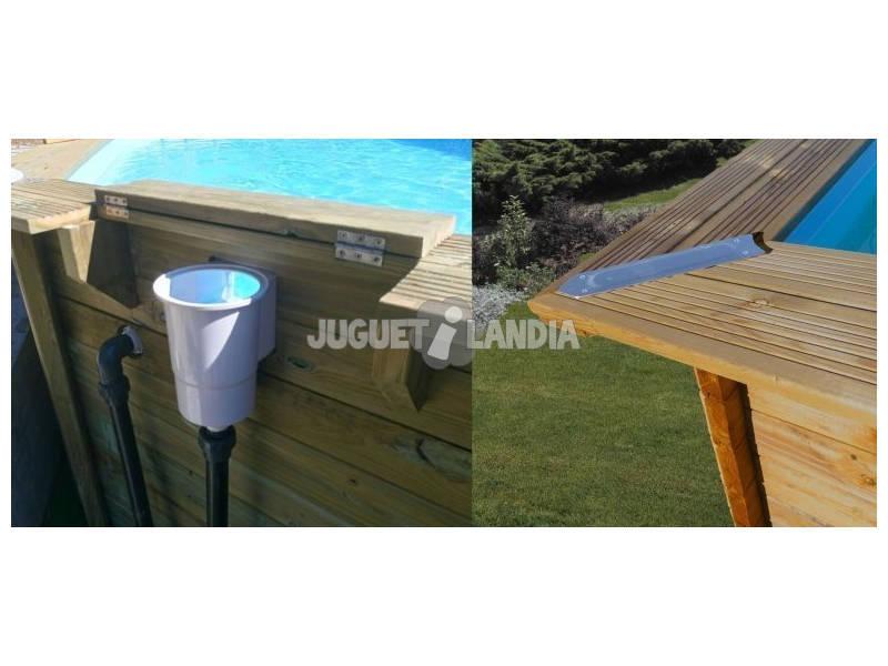 Acheter piscine en bois ovale vermella 672 x 472 x 146 cm for Acheter piscine bois