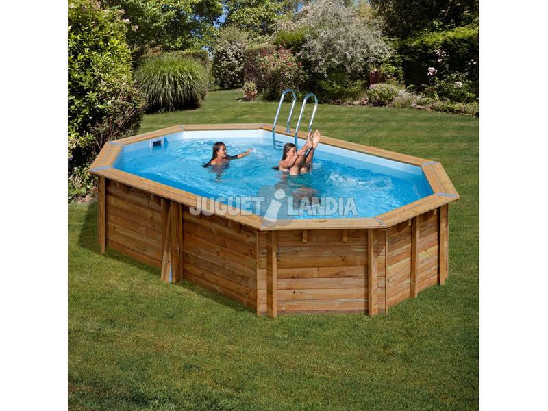 Acheter piscine en bois ovale grenade 436 x 336 x 119 cm for Acheter piscine en bois