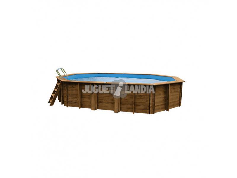 Acheter piscine en bois ovale grenade 436 x 336 x 119 cm for Acheter piscine bois