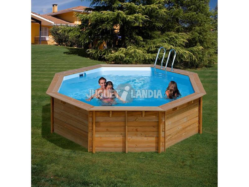 Acheter piscine en bois ronde violette 511 x 124 cm gre for Acheter piscine bois