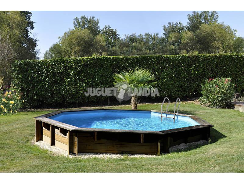 Acheter piscine en bois ronde lili 295 x 105 cm gre 790080 for Acheter piscine en bois