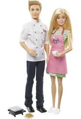 Barbie Café Ken Dolls Mattel FHP64