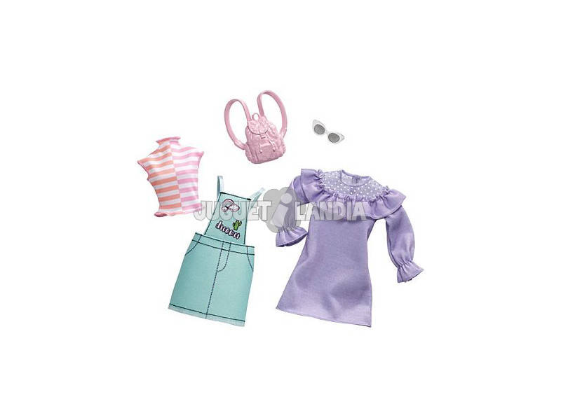 Barbie Completo Looks Fashions Assortiti, Confezione da 2 Mattel FKT27