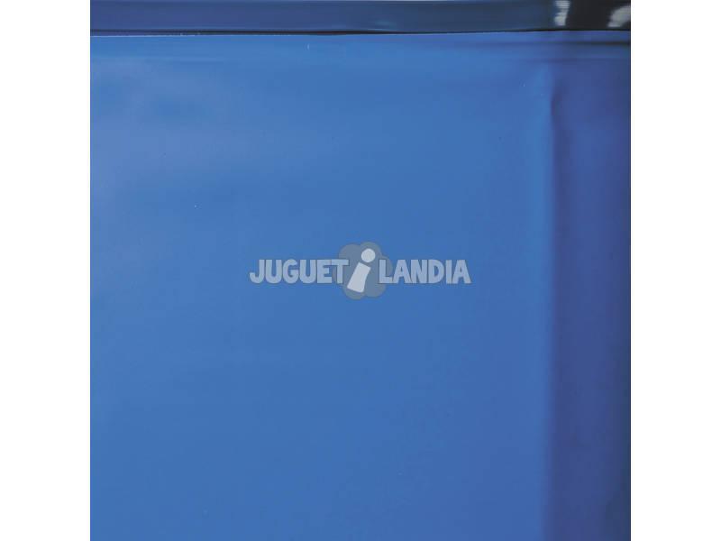 Liner blu per piscina in Legno 600x400x133 cm. Gre 785939