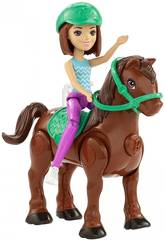 imagen Barbie On The Go Muñeca Con Mini Poni Surtido Mattel FHV60