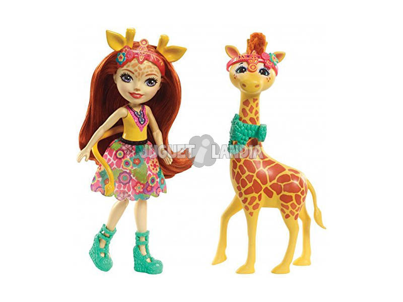 Enchantimals Gillian la Giraffa Bambola e Cucciolo Cavalcabile