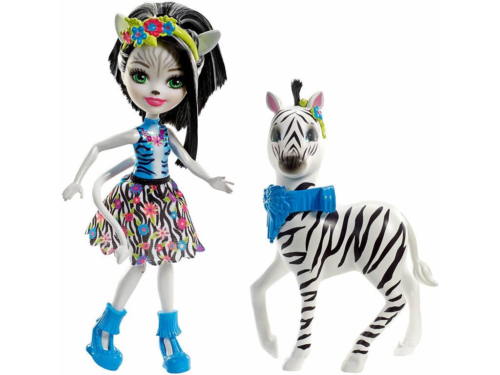 Boneca da zebra de Enchantimals Zelena e Hoofette Mattel FKY75