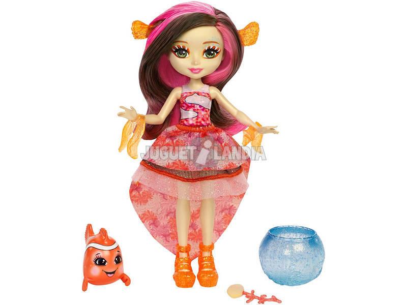 Enchantimals Muñeca Clarita Clownfish Con Cackle Mattel FKV56