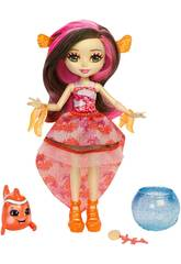 Enchantimals Clarita Poisson Clown avec Cackle Mattel FKV56