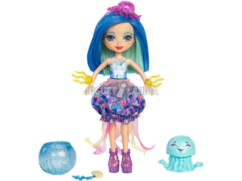 Enchantimals Boneca Jessa Jellyfish Com Marisa Mattel FKV57