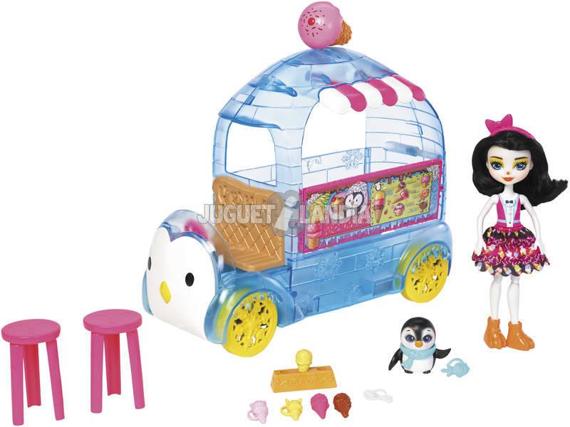 Enchantimals Camioncino dei Gelati Set Veicolo XL con Bambola Cucciolo e Accessori Mattel FKY58