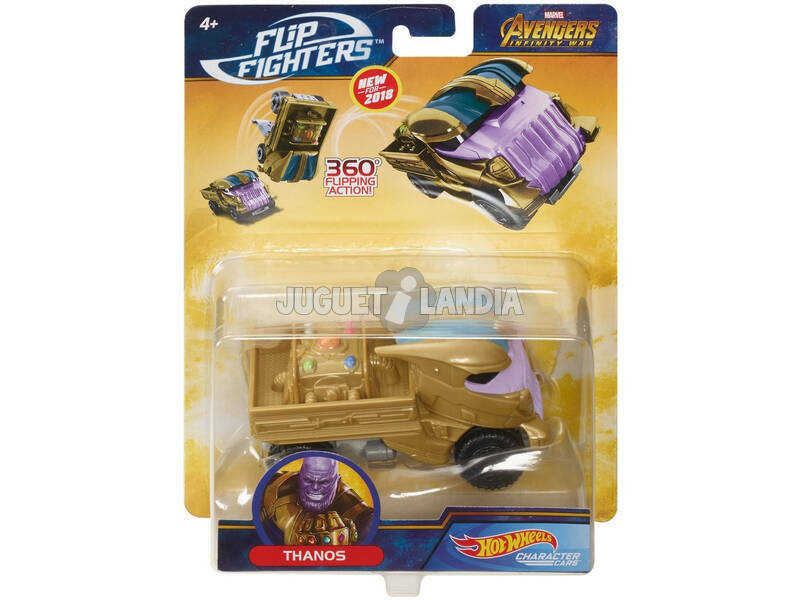 Hot Wheels Coche Superacrobacias Marvel Mattel FLM73