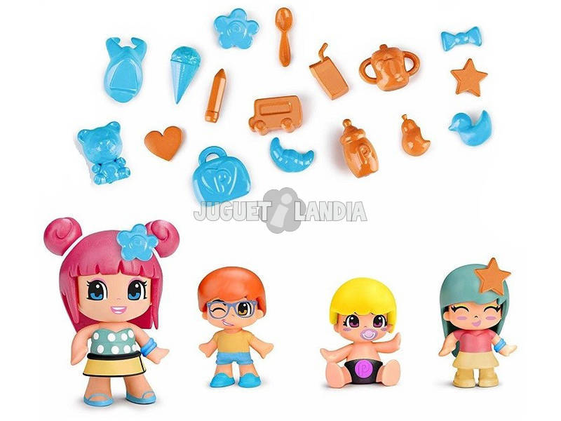 Pinypon Bebes y Figuras Famosa Pack 4 700014101