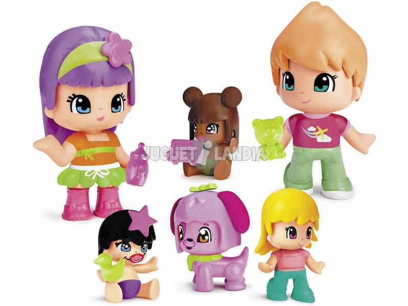 Pinypon Bebes y Figuras Famosa Pack 6 700014086