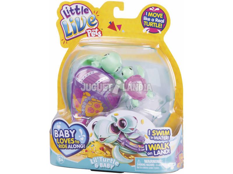 Tortuga molona con su beb/é Laila Little Live Pets Famosa 700014400