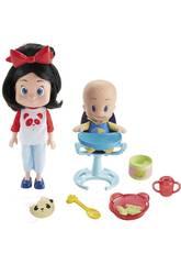 Familia Telerín Muñecos Cleo y Cuquín ¡Vamos a Comer! Mattel FLW48