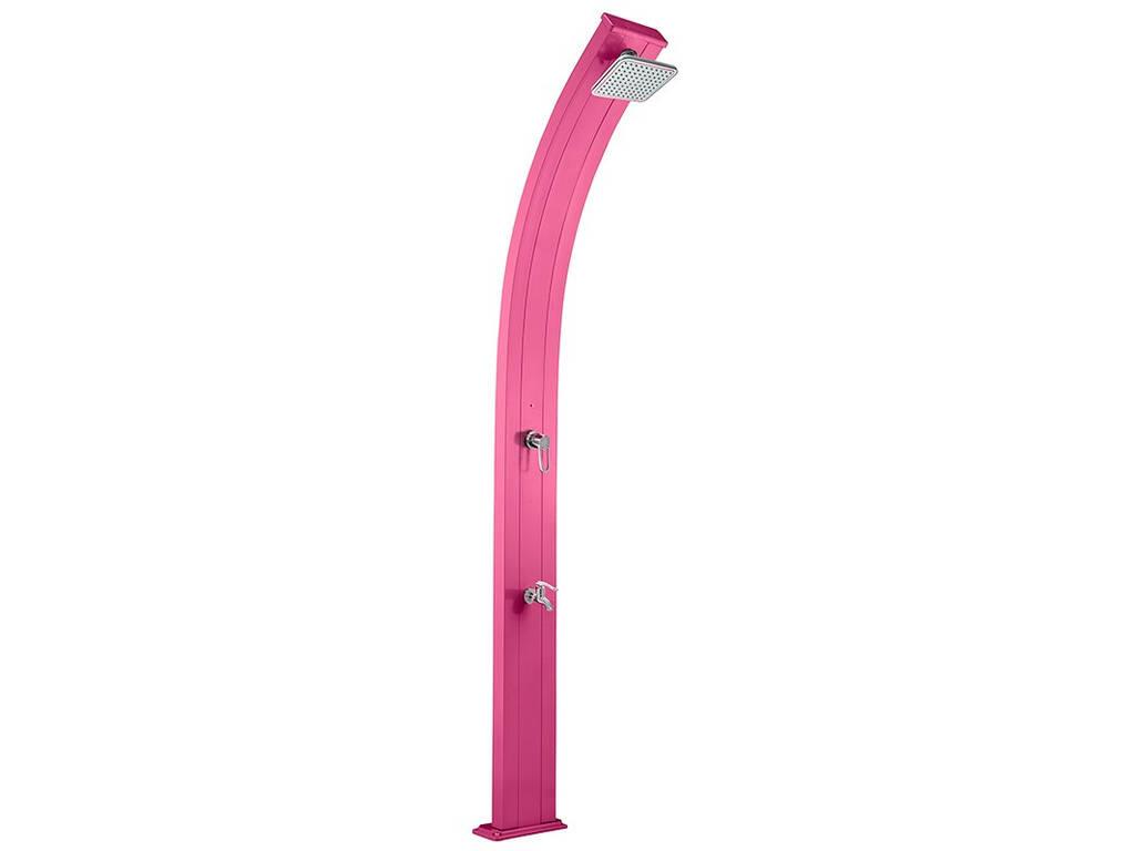 chuveiro solar de alumínio do Spring Rosa com Enxaguar os pés Poolstar DS-A122RS