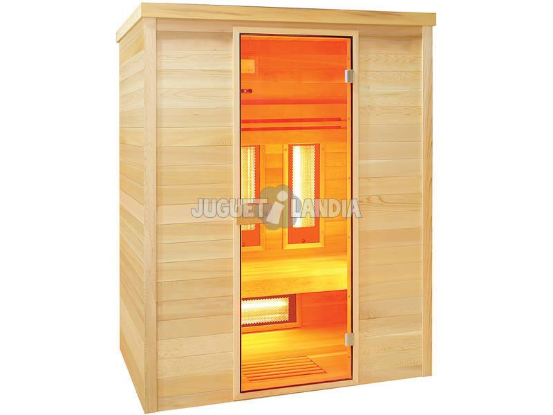 Sauna infravermelha Multiwave 3 lugares Poolstar HL-MW03-K