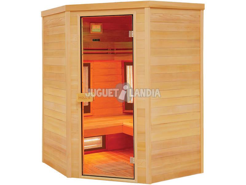 Sauna Infravermelho Multiwave 3 lugares Poolstar HL-MW03C-K