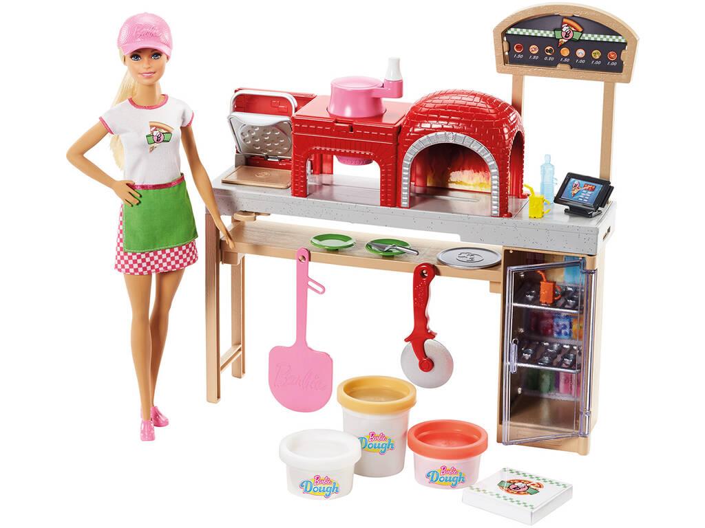 Barbie Cooking e Baking Pizza baeckerin bambola e gioco Set con plastilina Mattel FHR09