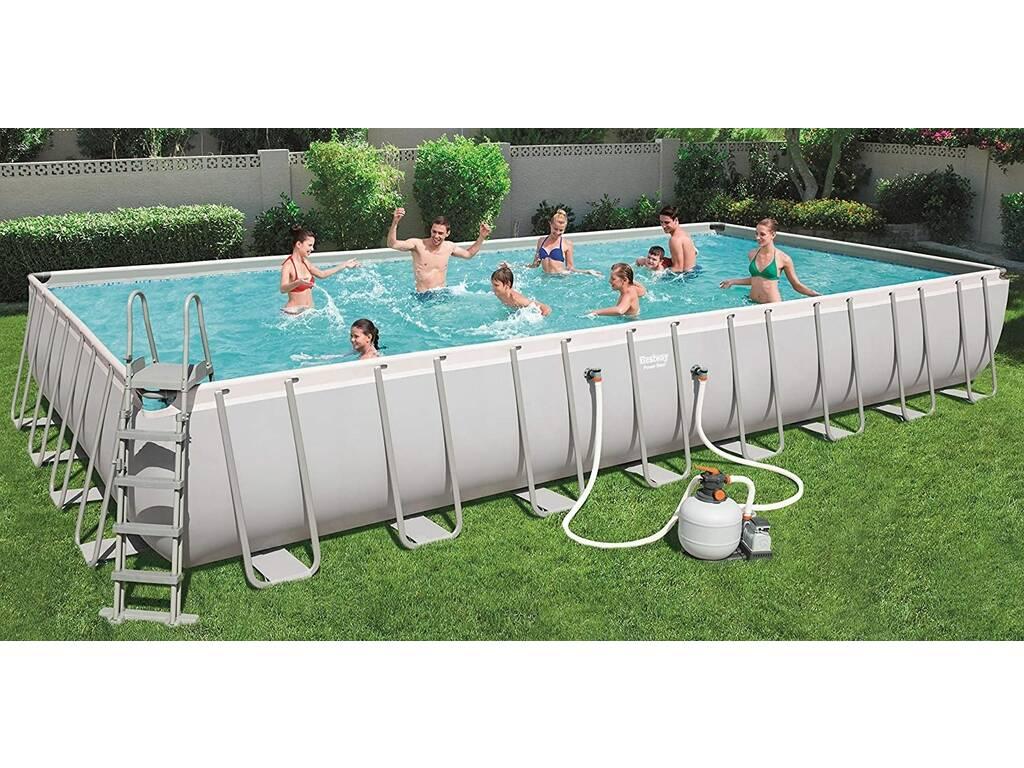 Piscina desmontable 956x488x132 cm bestway 56623 for Juguetilandia piscinas desmontables