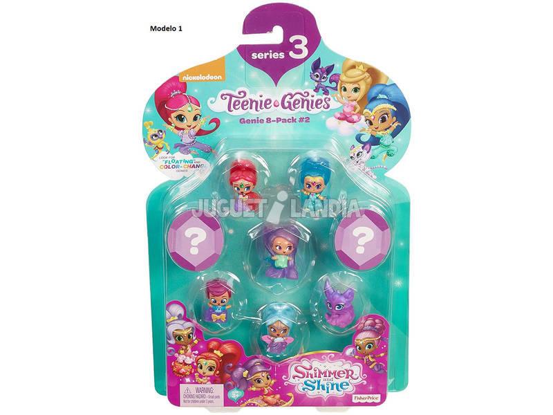 Shimmer & Shine Pack 8 Genios Mattel DTK53