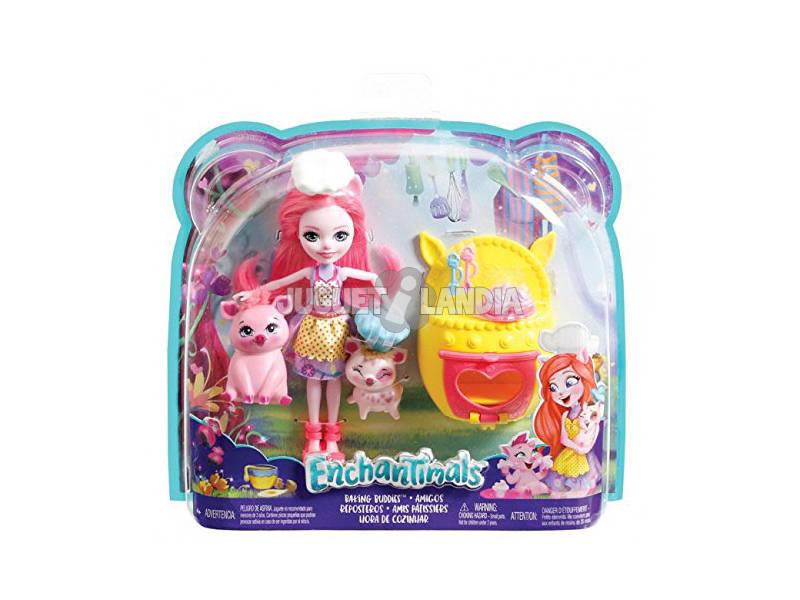 Enchantimals Dolcetti con le Amiche Bambola 2 Cuccioli Accessori Mattel FJJ28