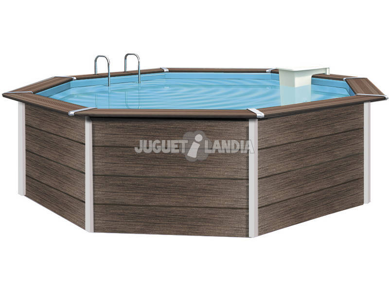 Piscina desmontable acero revestida composite 390x124 cm for Piscina desmontable acero