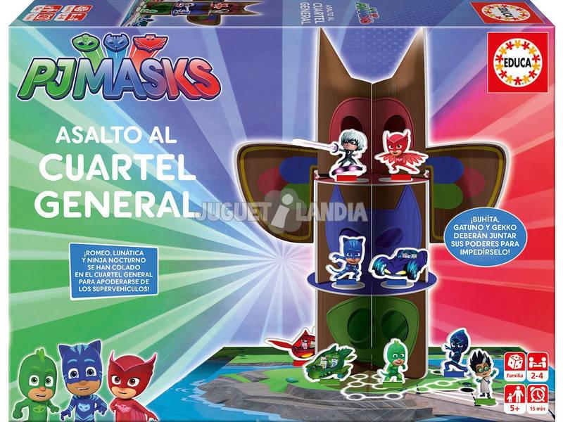 Juego de Mesa PJ Masks Asalto Al Cuartel General Educa 17717