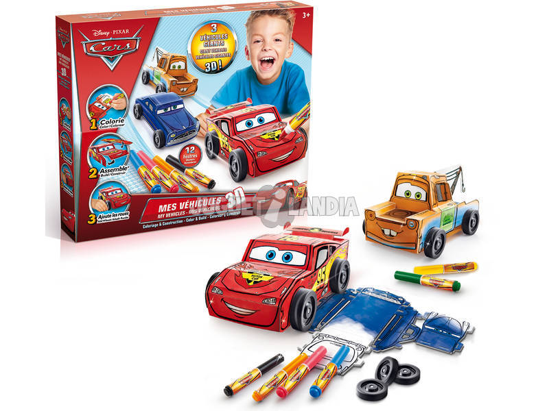 Cars Mis Coches 3D para Colorear Canal Toys CARC 013