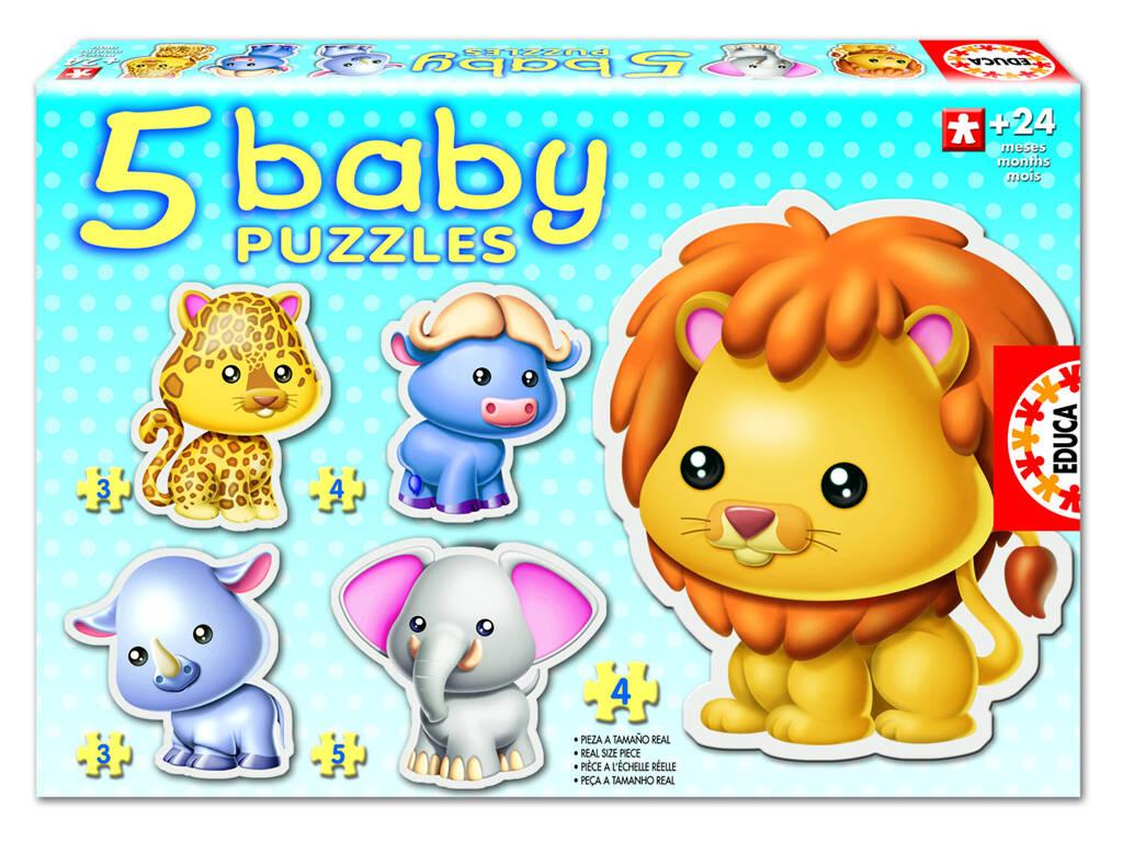 Baby Puzzle Animais Selvagens Educa 14197