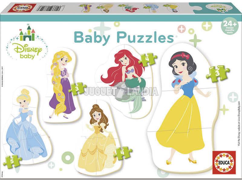 Quebra-cabeça Baby Princesas Disney Educa 17754