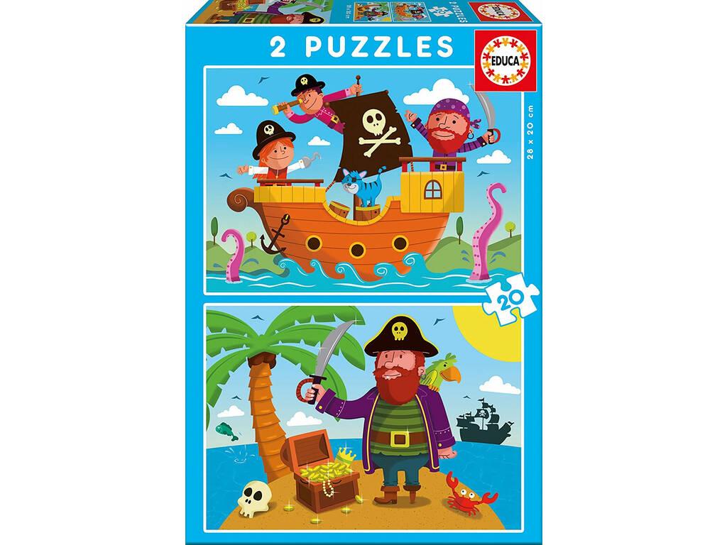 Puzzle 2X20 Piratas Educa 17149
