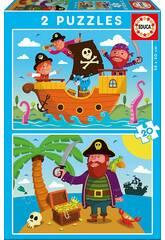 imagen Puzzle 2X20 Piratas Educa 17149