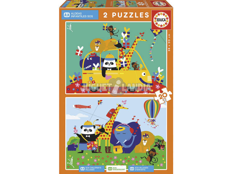 Puzzle 2X20 Animales Julien Chung Eudca 17725