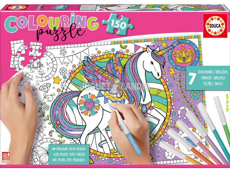 Puzzle 150 Unicorno da Colorare Educa 17828