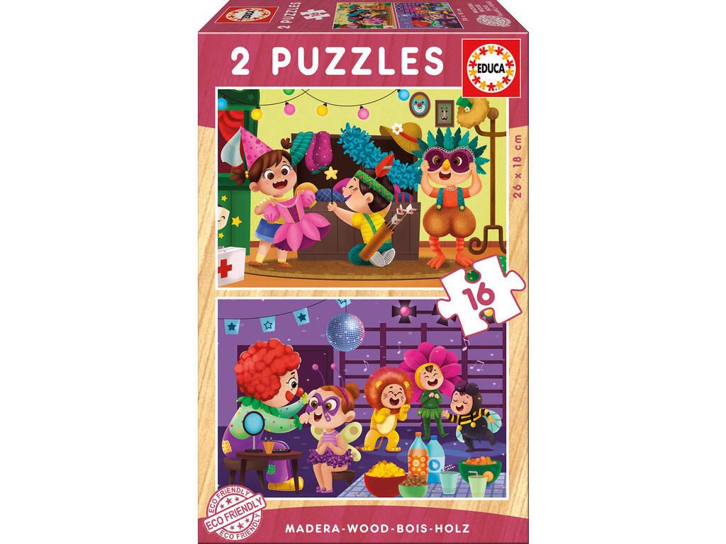 Puzzle di Legno 2x16 Costumi Educa 17619