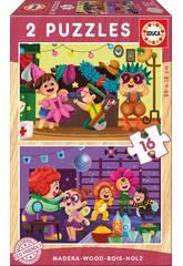 Puzzle Madera 2x16 Disfraces Educa 17619