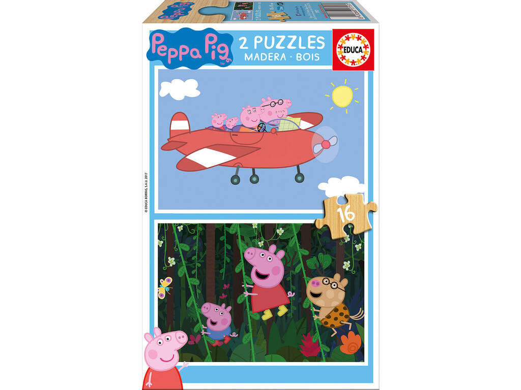 Puzzle 2X16 Peppa Pig Educa 17157