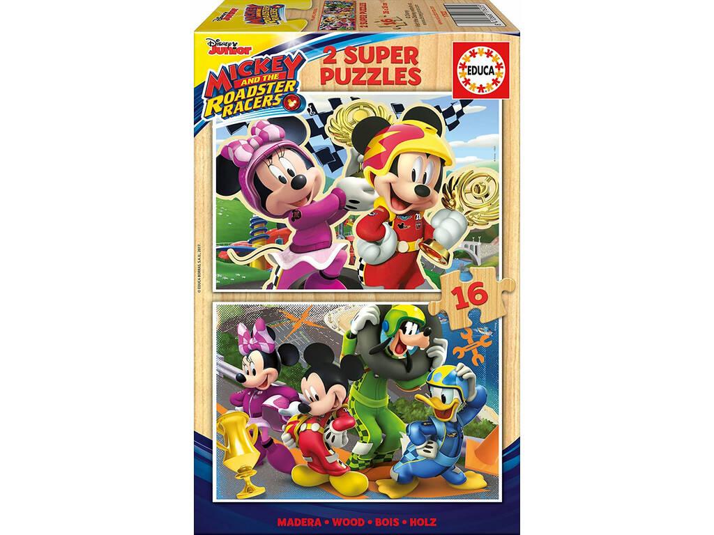Puzzle 2x16 Mickey y Los Super Pilotos Educa 17622