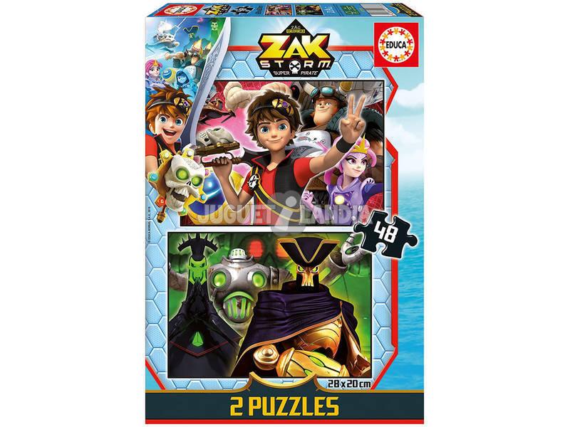Puzzle 2x48 Zak Storm Educa 17733