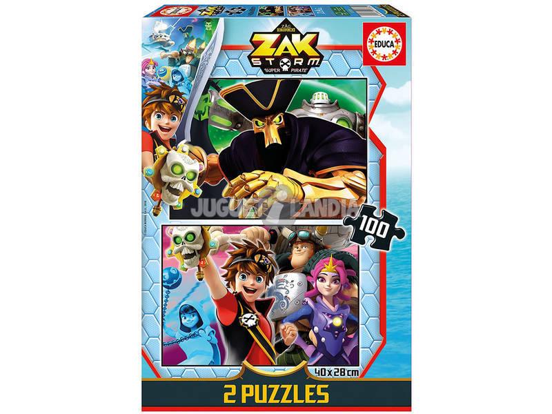 Puzzle 2x100 Zak Storm Educa 17735
