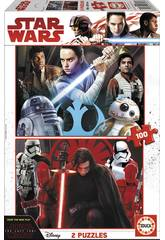Puzzle 2x100 Star Wars Episodio VIII Gli Ultimi Jedi Educa 17462